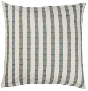 IB Laursen Kissenbezug 60x60 Streifen grün/creme weiß breit Baumwolle Kissen
