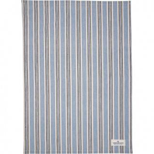 Greengate Geschirrtuch IVAH Blau Streifen Muster Baumwolle 50x70 Küchentuch