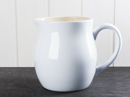 IB Laursen MYNTE Kanne 2.5 Liter Weiß Keramik Geschirr PURE WHITE Krug Karaffe