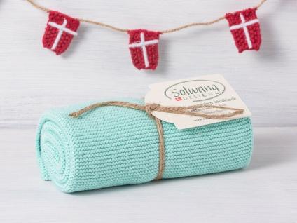 Solwang Küchentuch AQUA HELL gestrickt Putztuch Handtuch Geschirrtuch Gästetuch