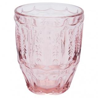 Greengate Glas NOSTALGIA PALE PINK Rosa Wasserglas 200 ml Trinkglas Saftglas