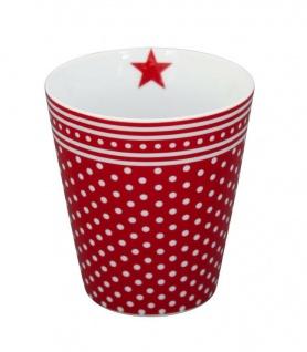 Krasilnikoff Happy Mug Becher MICRO DOTS Rot Punkte Kaffeebecher Tasse