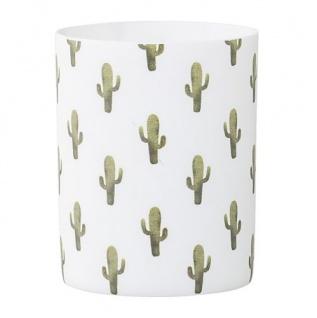 """Bloomingville """" Jade"""" Votive Windlicht Kaktus weiß Kakteen grün Porzellan"""