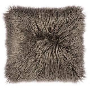 Pad Kissen Fluffy Fellkissen grau Kissenbezug Kissenhülle 60x60 Pad Concept
