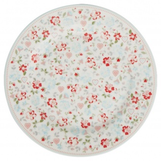 Greengate Teller MERLA Weiß 20 cm Porzellan Geschirr Kuchenteller Dessertteller