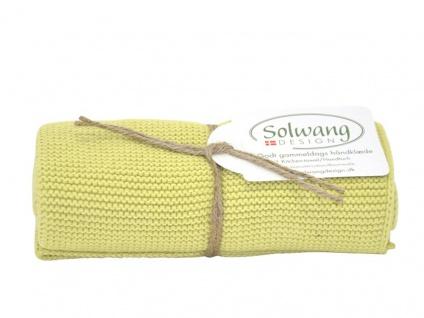 Solwang Küchentuch FRÜHLINGS GRÜN gestrickt Geschirrtuch Handtuch Baumwolle