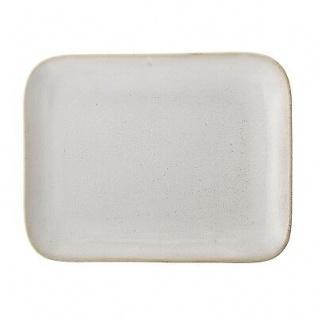 Bloomingville Servierplatte Carrie eckig 31.5 cm Servierschale Keramik creme bei