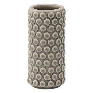 Bloomingville Vase Cool Grey Dots Blumenvase grau Punkte 9 cm