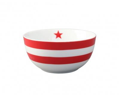 Krasilnikoff Schale Happy Bowl STREIFEN Rot weiß gestreift Müslischale Porzellan