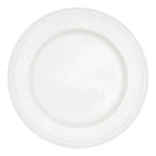 Greengate Teller ALICE Weiß 26.5 cm Essteller Everyday Geschirr Speiseteller