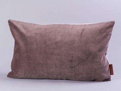 Cozy Living Kissen Samt braun Baumwolle grau 30x50 mit Füllung