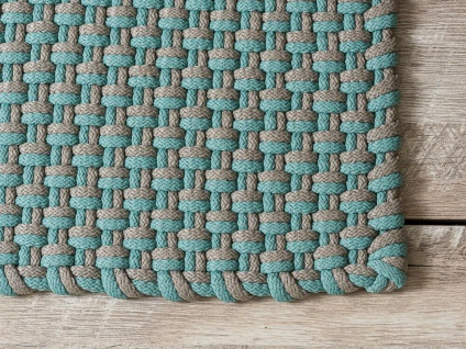 Pad In / Outdoor Matte POOL aqua türkis beige 72x92 Fussmatte Badezimmermatte - Vorschau 2