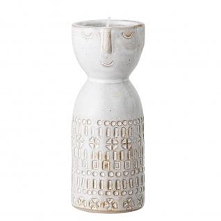 Bloomingville Vase FACE Creme Weiß Rund mit Gesicht 6x14 cm Keramik Blumenvase