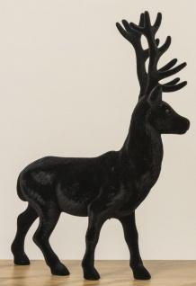 Hirsch ROBERT Schwarz matt 40 cm Kunststoff Deko Figur Weihnachtsdeko Geschenk