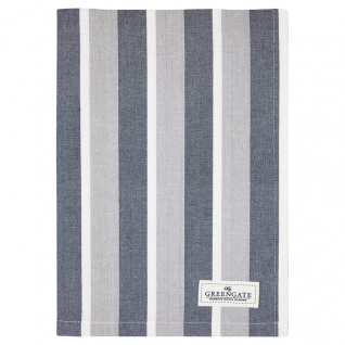 Greengate Geschirrtuch ALYSSA Blau mit Streifen Baumwolle 50x70 cm Küchentuch
