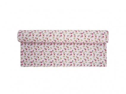 Krasilnikoff Tischläufer ROMANTIK BLUME Rosa bunt pink Tischdecke bunte Blumen
