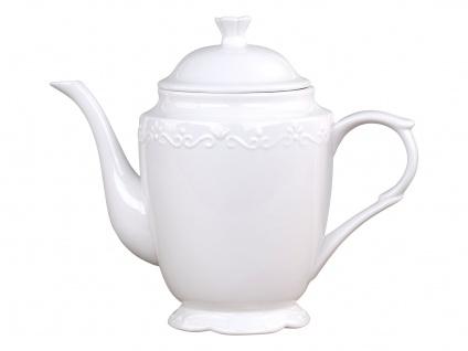 Chic Antique Kaffeekanne PROVENCE Porzellan Geschirr Weiß 900 ml Kanne