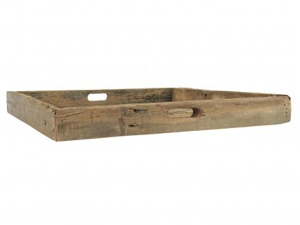 IB Laursen Tablett mit Griffen UNIKA 60 x 60 cm Unikate aus Holz Quadratisch XL