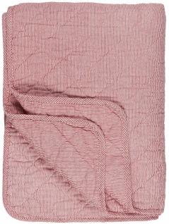 IB Laursen Quilt Rot Weiß Streifen Decke Tagesdecke 130x180 cm Bettüberwurf
