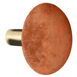 Cozy Living Kleiderhaken HELENE Spice SAMT Gold 10 cm Garderobenhaken Orange