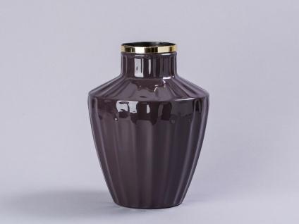 Cozy Living Vase Josefine Lavendel Gold 23 cm Blumenvase Retro Vase Metall