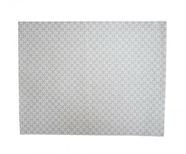 Krasilnikoff Tischset DAISY Hellgrau Blumen Weiß Baumwolle Platzset Grau