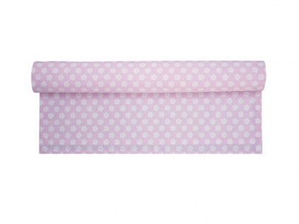 Krasilnikoff Tischläufer RETRO BLUME Rosa Blumen weiß Tischdecke pink
