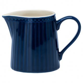 Greengate Milchkännchen ALICE Blau Sahnekännchen Everyday Geschirr DARK BLUE
