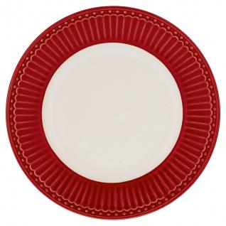 Greengate Tiefer Teller ALICE Rot 26.5 cm Suppenteller Everyday Geschirr RED