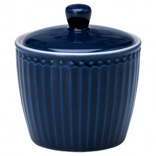 Greengate Zuckerdose ALICE Blau Zuckertopf Everyday Geschirr DARK BLUE Dose