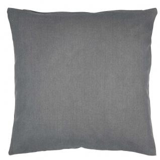 IB Laursen Kissenbezug grau uni Kissenhülle Baumwolle dunkelgrau 50x50 - Vorschau