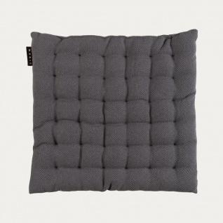 Linum Sitzkissen PEPPER GRANITGRAU 40x40x3 cm Stuhlkissen Füllung Baumwolle Grau