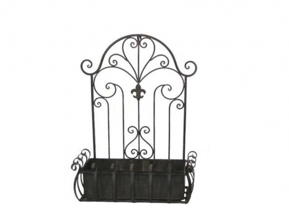 Wandkorb VENEZIA 60 cm Deko Korb aus Metall für Blumen Pflanzenkorb Gartendeko