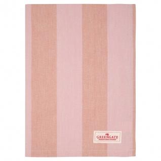 Greengate Geschirrtuch ALFRIDA Coral Streifen Baumwolle 50x70 Küchentuch