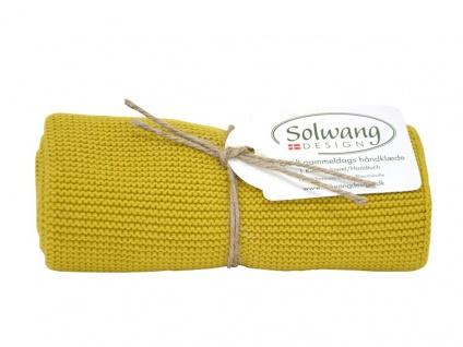 Solwang Küchentuch SAFRAN Gelb gestrickt Geschirrtuch Handtuch Baumwolle 34x49
