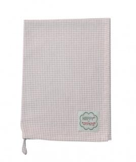 Krasilnikoff Geschirrtuch KARO klein rosa Geschirrhandtuch kariert pink weiß