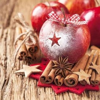 Ambiente Servietten STAR ON APPLE Stern Apfel Zimt Sterne Weihnachten 20 Stk 33x