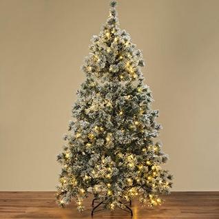 Weihnachtsbaum Schnee 230 LED Lichter Timer Funktion 180 cm Tannenbaum Kunststof