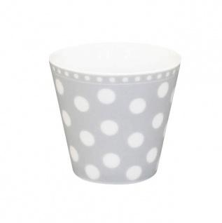 Krasilnikoff Espresso Tasse PUNKTE Hellgrau m weißen Punkten Porzellan grau weiß