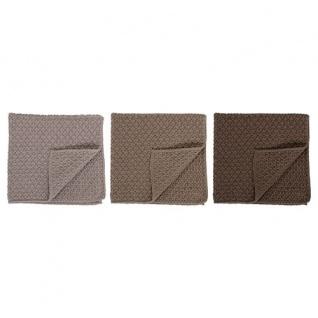 Bloomingville Wischtücher 3er Pack. grau braun. Küchentuch. Baumwolle