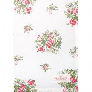Greengate Geschirrtuch PETRICIA Weiß Blumen Baumwolle 50x70 Küchentuch