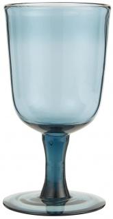 IB Laursen Rotwein Glas Blau 250 ml 8x15 cm Weinglas blaues Glas Trinkglas