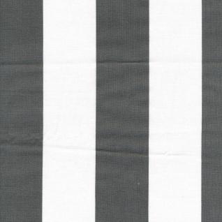 AU Maison Wachstuch Stripe Giant Black Meterware Tischdecke Abwaschbar 140 cm