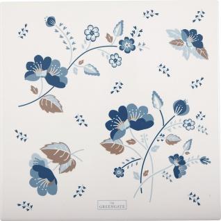 Greengate Untersetzer MOZY Weiß Blau Eckig 22cm Porzellan Geschirr Schneidebrett