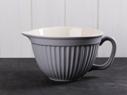 IB Laursen MYNTE Rührschüssel Grau Keramik Geschirr FRENCH GREY 1700 ml Schale