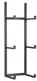 IB Laursen Wandhalter für 3 Ziegelformen Hängeregal Metall Wandregal Schwarz