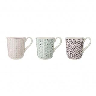 Bloomingville Becher MAYA 3er Set Keramik Geschirr Tasse 360 ml Kaffeebecher