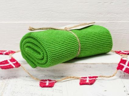 Solwang Küchentuch FRISCHES DUNKELGRÜN gestrickt Putztuch Geschirrtuch Handtuch
