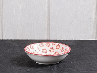 IB Laursen Schale LIVA Mini rot weiß Blumen Geschirr Schüssel Porzellan