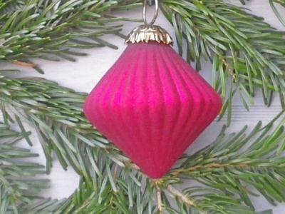 Hänger Kreisel Rubin rot matt Christbaum Schmuck Tannenbaumkugel Weihnachten Dek